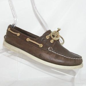 Sperry Authentic brown leather moc loafers 6.5M